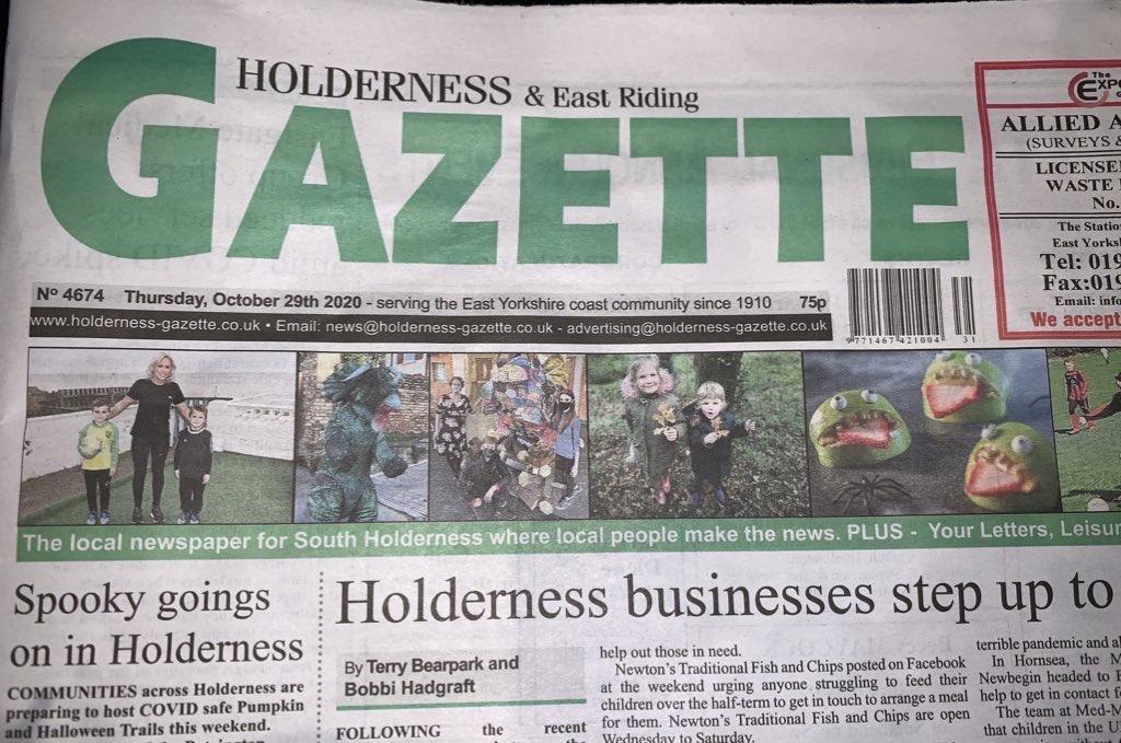Holderness and East Riding Gazette newspaper